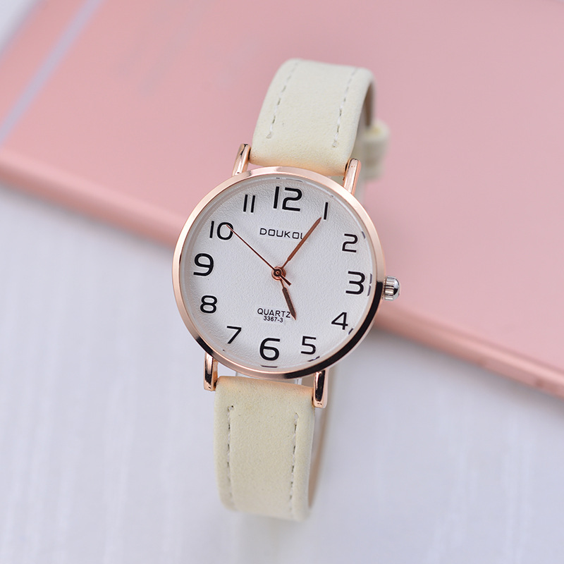 Large With Numbers Measuring Casual Watch Unisex Velvet Watch Strap All Types Of Quartz Watch Amoy