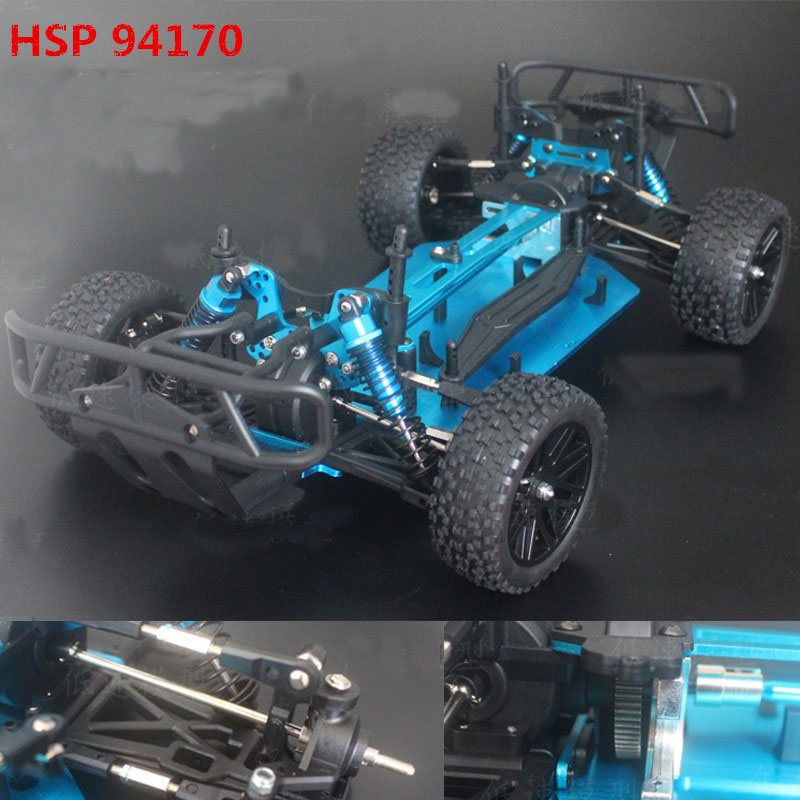 HSP 94170 Car Chassis 1/10 Brushless Version 4 Wheels Drive  RC Crawler Empty Frame Anti-collision Model Climbing Car KIT