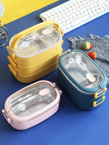 ONEUP Lunch-Box Food-Container Office Portable 304-Stainless-Steel Children New Worker