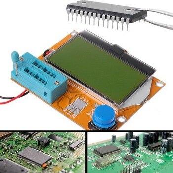ESR Meter  328 Transistor Tester Digital V2.68 ESR-T4 Diode Triode Capacitance MOS/PNP/NPN LCR 12864 LCD Screen Tester multifunctional lcd backlight diode inductance capacitance resistance esr meter transistor tester for mos pnp npn l c r testing