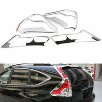 ABS Chrome Car Rear Tail Light Lamp Cover Trim For Honda CRV CR V 2012 2013 2014