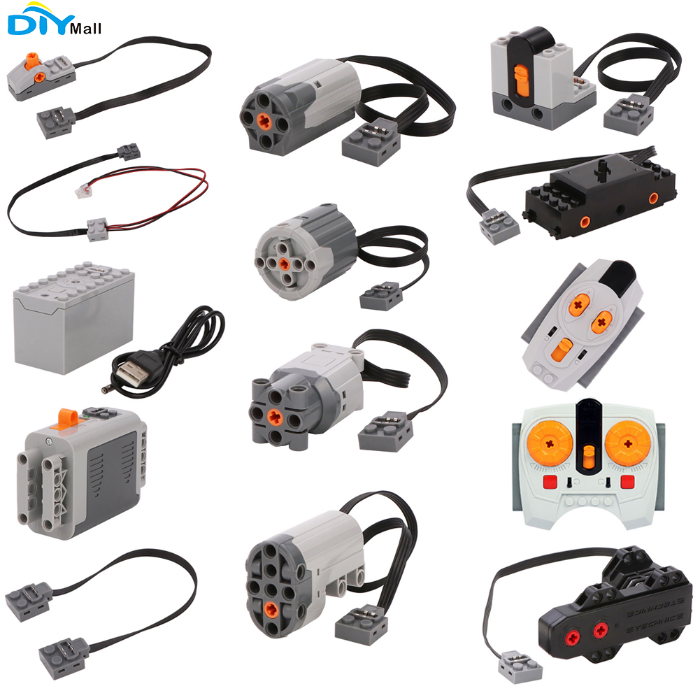 Technic Parts For Legoeds Lego Building Blocks Servo Motor Battery Box 2.4G Infrared Remote Control Receiver PF Model Sets