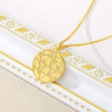 Золотая цепочка с картой мира для женщин и мужчин ожерелье из