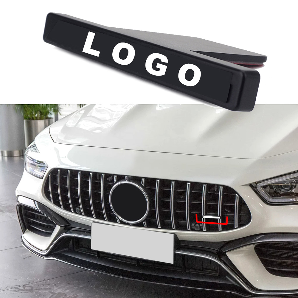 For AMG Badge Logo Front Grill Sticker For Mercedes Benz GLB GLE GLC GLS CLA GT G A S Class Car Tuning Net Network 3D Trim Decor