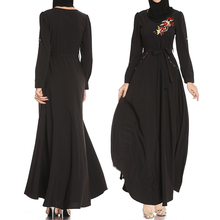 שחור העבאיה Robe Femme דובאי האיסלאם מוסלמי שמלת קפטן קפטן Abayas לנשים הרמדאן קטאר Omani Elbise חיג אב שמלות בגדים