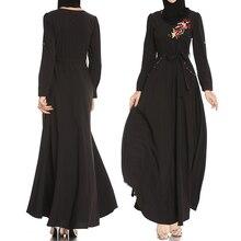 Đen Abaya Áo Dây Femme Dubai Hồi Giáo Hồi Giáo Đầm Caftan Dài Abayas Cho Nữ Ramadan Qatar Oman Elbise Hijab Áo Quần Áo