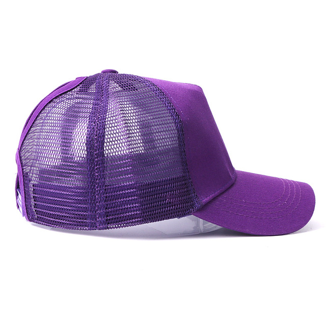 New Baseball Caps Mesh Spring Summer Outdoor Sprot Hat With Ponytail Hole Breathable Snapback Adjustable Caps For Men And Women 6
