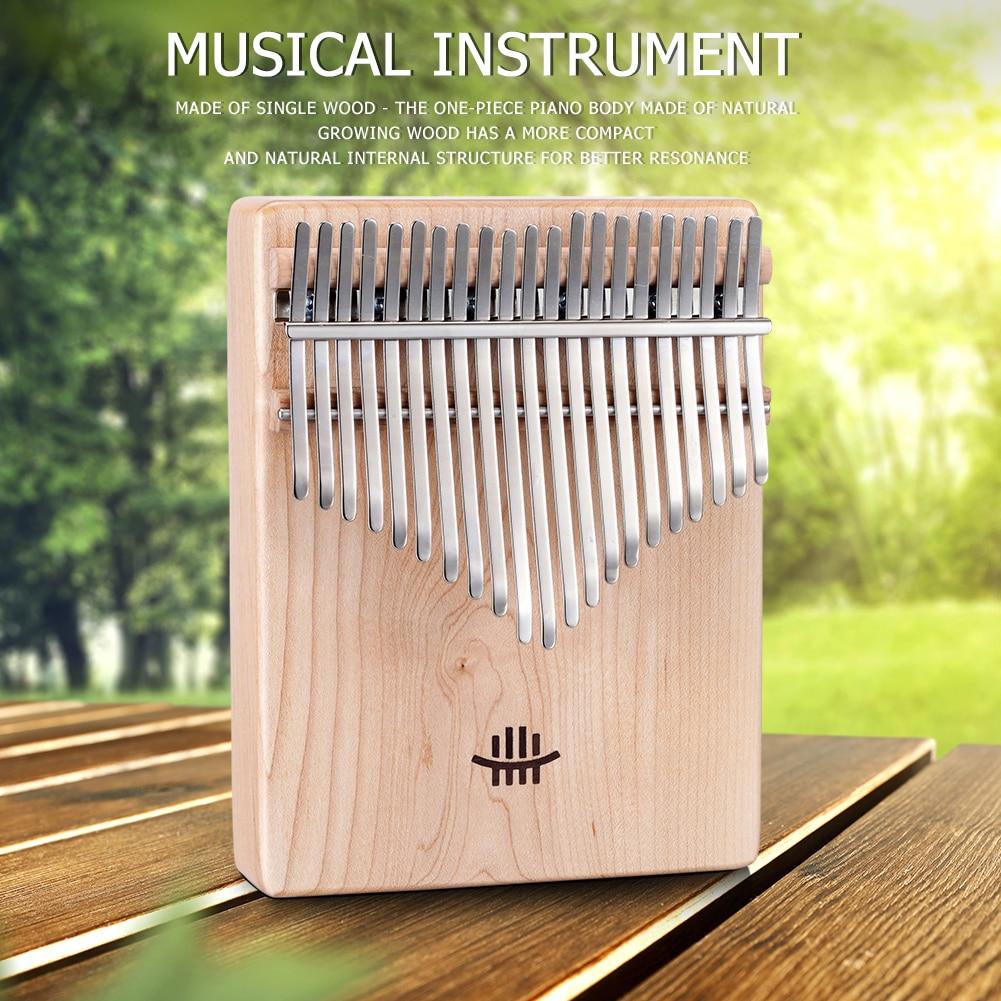 Kalimba 17 Key Thumb Finger Piano African DIY Wooden White Embryo Sanza Mbira Kalimba Play With Guitar Wood Musical Instruments