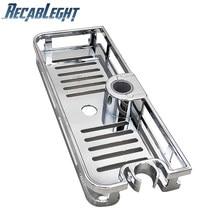 Estante de ducha rectangular desmontable, bandeja de almacenamiento de elevación, soporte de plástico, ahorro de espacio, accesorios de baño y cocina