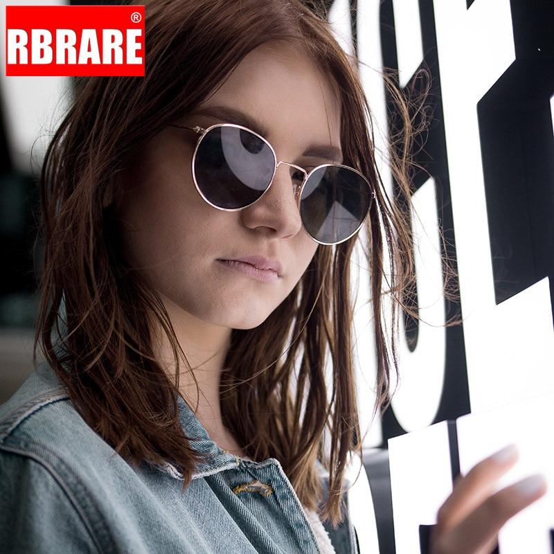 RBRARE Rave Festival Round Alloy Sunglasses Women Small Frame Metal Mens Brand Designer Sun Glasses Vintage Oculos