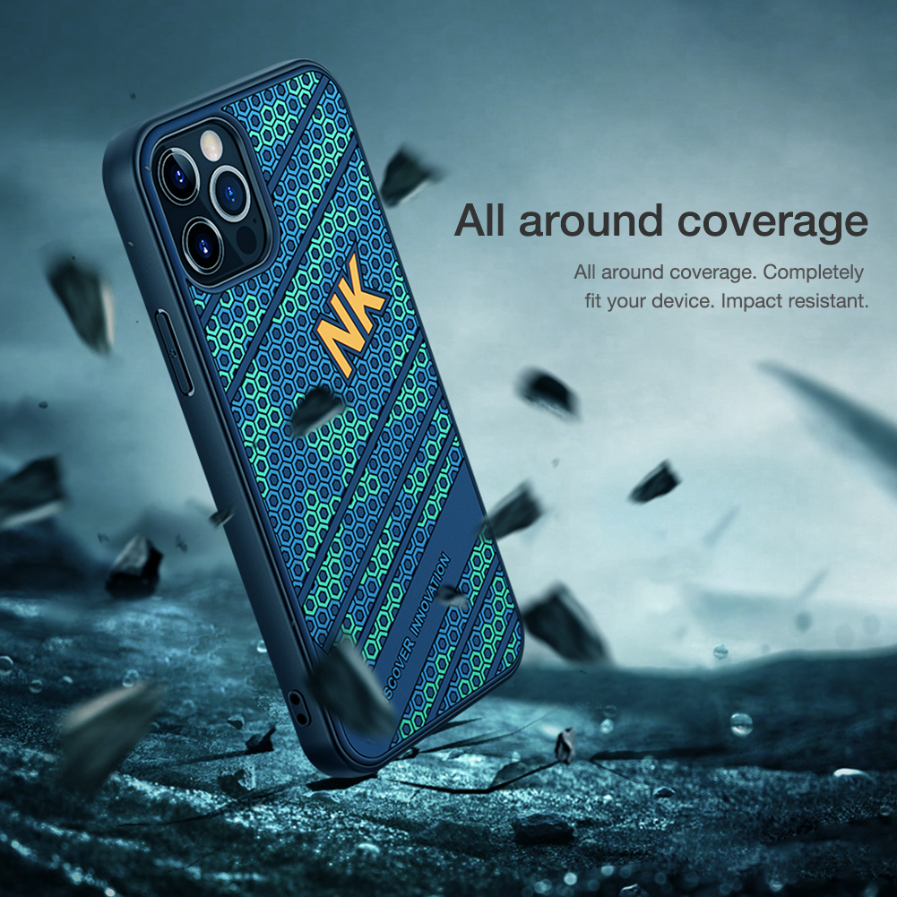 Luxury 3D Honeycomb Texture Anti fingerprint Silicone Case for iPhone 12 Pro Max