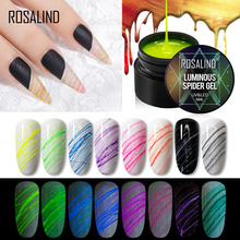 ROSALIND Luminous Spider Gel Fluorescent Neon Effect Hybrid Varnishes Design Line Drawing Painting For Manicure Silk Spider Gel