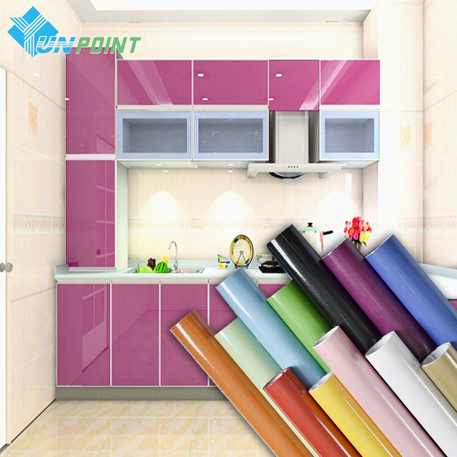 European Self Adhensive Wallpaper Paint Flash PVC Wall Papers Kitchen Cupboard Door Furniture DIY Stickers Vinyl Decorative Film