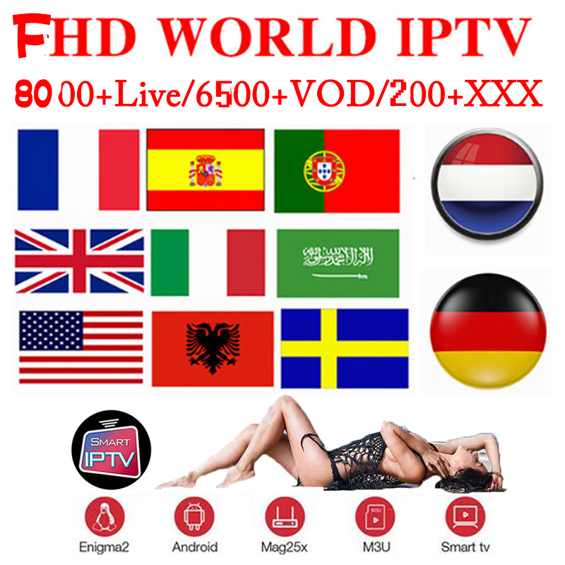 4K IPTV Subscription Sweden Germany French Arabic XXX IPTV M3U Android Spian Italy UK Smart IPTV Greek Nordic France Adult IP TV
