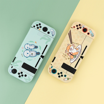 nintend switch protective shell split housing cute blue hard back cover shell ns game console case for nintendo switch accessory Soft Cover Back Girp Shell For Nintendo Switch Case Nintend Switch Lite Cute Cartoon Protector Housing Cover for Switch Console