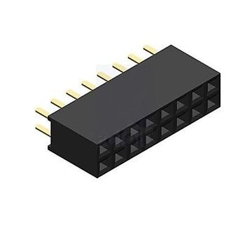 цена на 10PCS 2x8 16 Pin 2.54mm Double Row Female Straight Header Pitch Socket Pin Strip