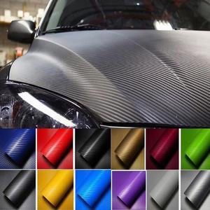 3D Car Carbon Fiber Car Film Sheet Wrap Sheet Roll Film Waterproof DIY Car Stickers Vinyl Film for Car Decoration 127 x 10cm(China)