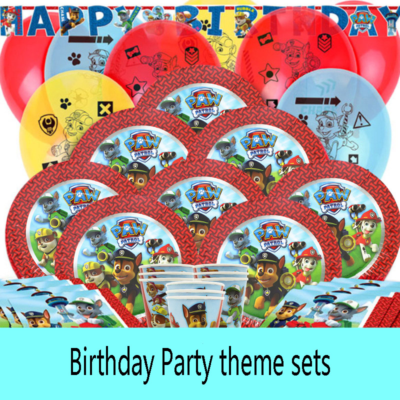 Paw Patrol Birthday Party Theme Anime Figure Party Decoration Baby Boy Girl Props Toys For Children Christmas Gifts