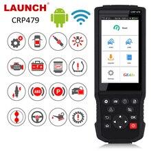 LAUNCH  X431 CRP479 OBD2 Máy Quét JOBD Tự Động Quét ABS TPMS DPF Immo Chìa Khóa Epb Dầu Thiết Lập Lại Xe Công Cụ Chẩn Đoán OBD2 ra Mắt X431 Wifi
