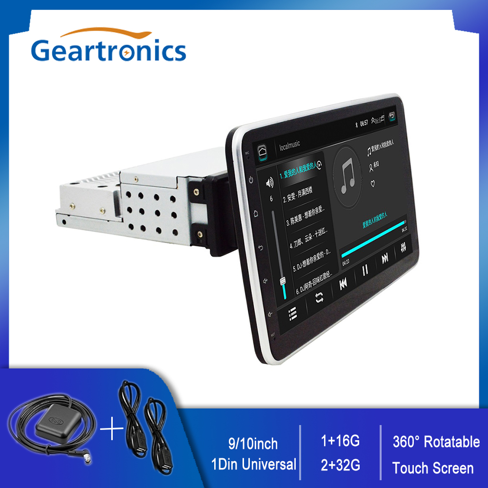 Универсальный 1 Din Автомобильный мультимедийный плеер 9/ 10 дюймов серсорный Экран Авто Радио стерео видео GPS Wi-Fi Авто Радио Android видео плеер
