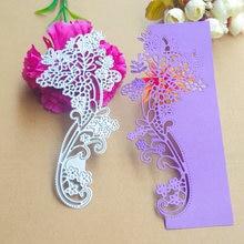 Красивый кружевной цветок украшение карты металлический нож