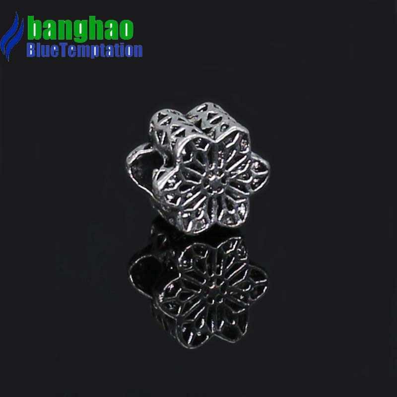 1 pçs prata grânulo charme europeu prata com oco cherry charme pingente grânulo apto pulseira zab227