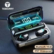 Tws bluetooth イヤホン V5.0 9D ステレオワイヤレスヘッドフォンスポーツ防水イヤホンミニ真のワイヤレス携帯電話用