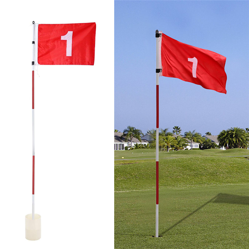 IPutting Green Flags Golf Flagsticks Practice Hole Cup With Flag Golf Pin Flags For Standard Golf Course Golf Training Aids