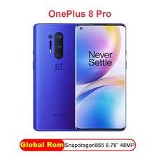 Oficjalny nowy oryginalny Oneplus 8 Pro 5G Smartphone Snapdragon 865 8G 128G 6.87 ''120Hz wyświetlacz płynu 48MP Quad 513PPI globalny Rom