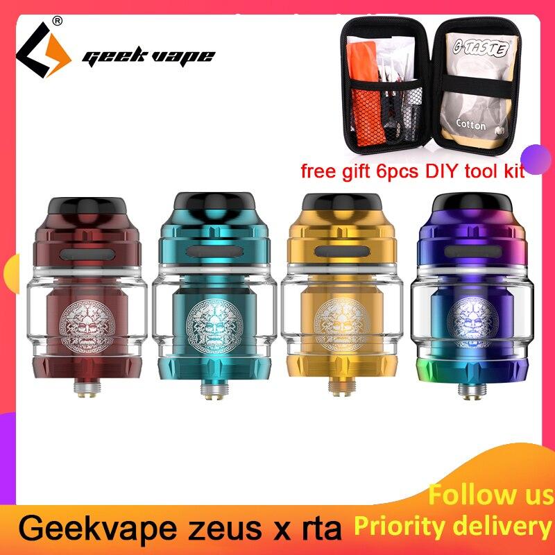 Geekvape Zeus X RTA 4.5 ml capacité du réservoir avec 810 Delrin pointe d'égouttement atomiseur de cigarette électronique mise à niveau zeus double/AMMIT MTL