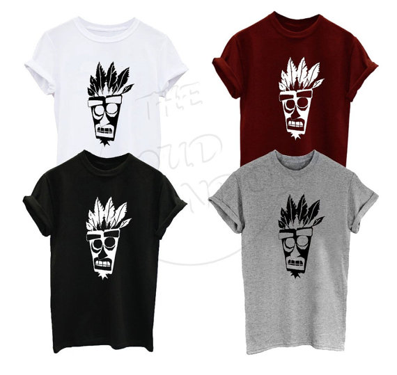 AKU AKU Mask Famous Game Giant Bomb Inspired Humour Tumblr Funny Unisex Tshirt More Size and Colors-A238 image