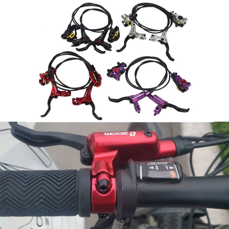 Bicycle Hydraulic Brake Mountain Bike Oil Brake Disc Super 395/447 Oil Disc Aluminum Alloy Cycling Disc Brake Two Way Braking image