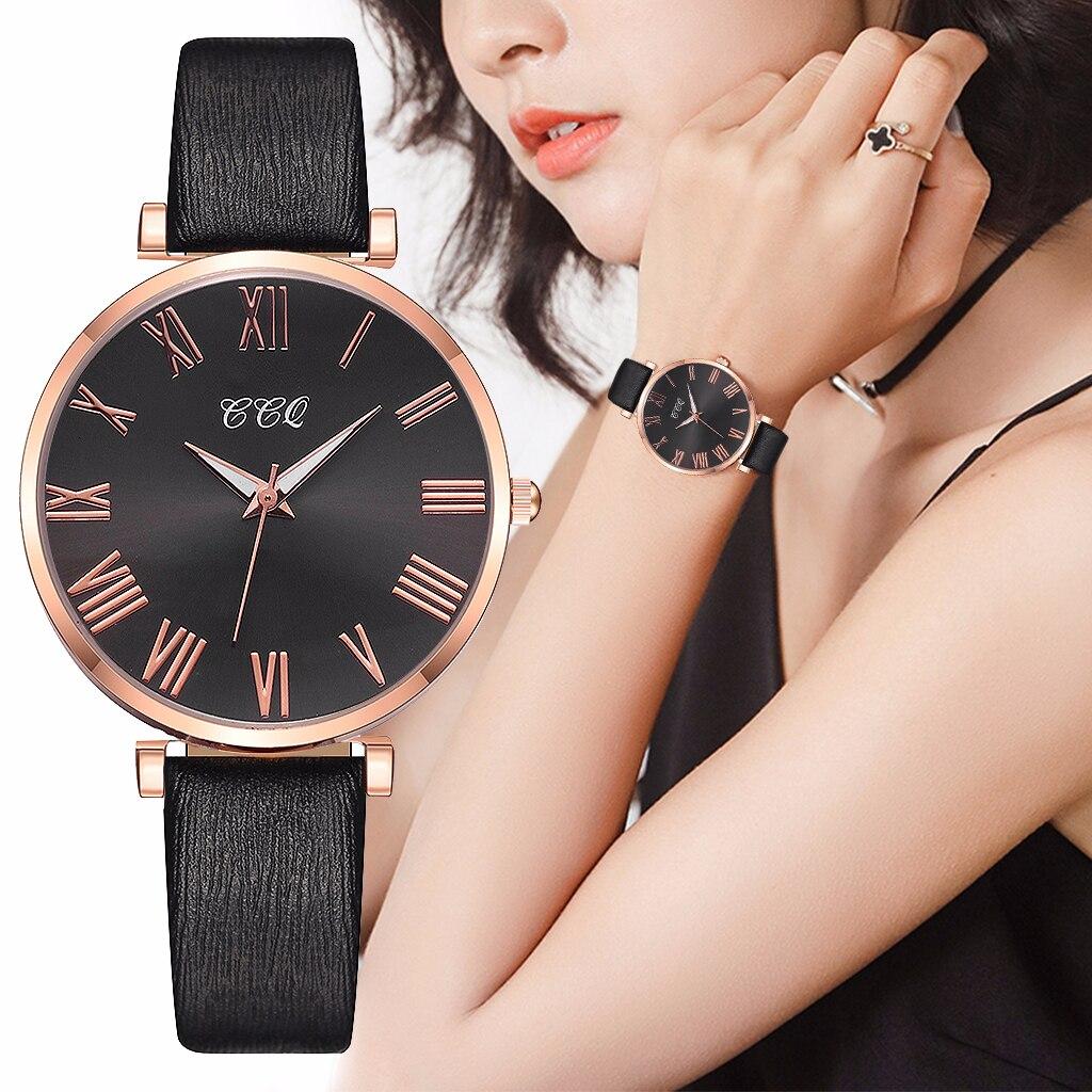Relogio Feminino Leather Band Quartz Wristwatch Women Fashion Casual Lades Watch Roman Numerals Clock Women Watches Reloj Mujer