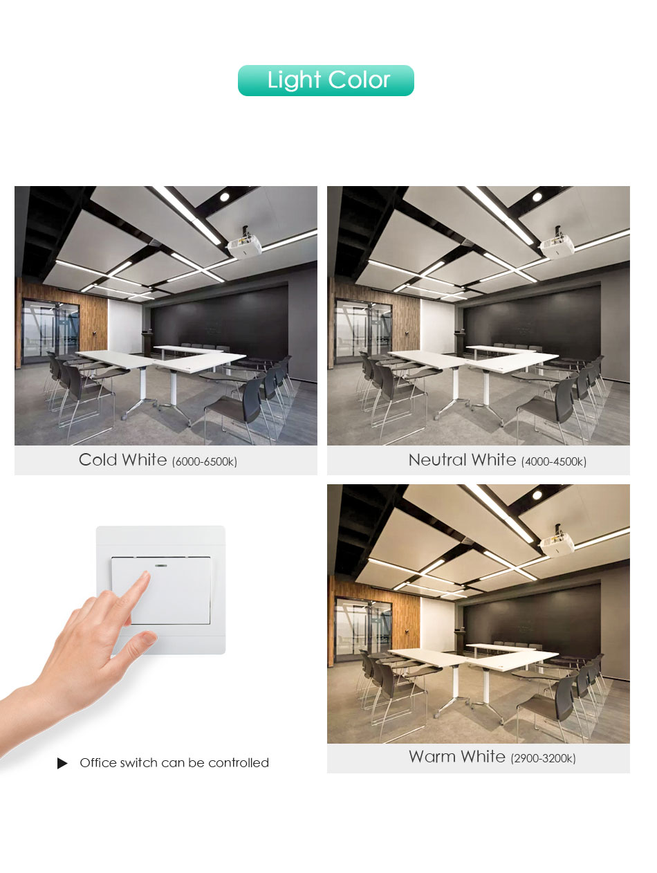 H2aafaf94e2074aecbc394a57c17e60fbe Modern LED Ceiling Light Lamp Lighting Fixture Rectangle Office Remote Bedroom Surface Mount Living Room Panel Control 110V 220V