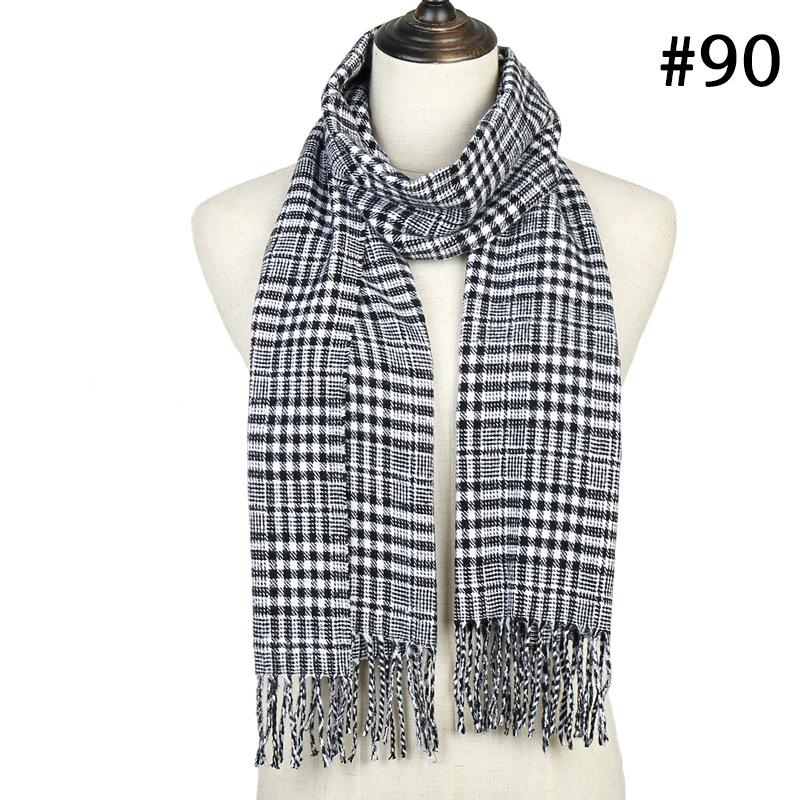 Luxury brand plaid   scarf   2019 winter warm cashmere   scarves   for women neck warmer foulard femme ladies shawls and   wraps