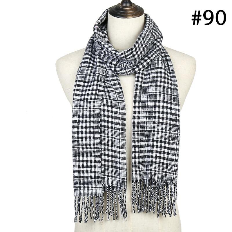 Luxury Brand Plaid Scarf 2019 Winter Warm Cashmere Scarves For Women Neck Warmer Foulard Femme Ladies Shawls And Wraps
