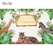Yeele Wild Animal Jungle Forest Backdrop Newborn Baby Shower Boy Birthday Party Photography Background Photo Studio Photophone