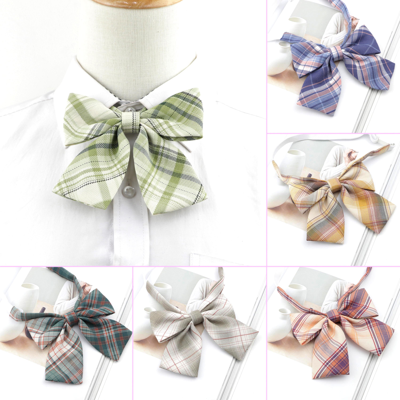 Hot Sale Cute Chic College Striped Ladies Bowtie Women School Girl Student Uniform Formal Suit Accessories Cravat Butterfly Knot