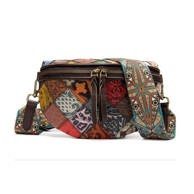 MAHEU New Fashion Bohemia Style Waist Bags Leather Chest Bag For Lady Crossbody Shoulder Bag Female Girls Fanny Pack Popular|Waist Packs| - AliExpress