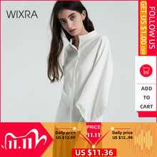 тренд 2019 wixra модная одежда классические свободные женская мастхэв стильная повседневные гардероб блуза блузка элегантная рубашка бежевый белый цвет силуэт офисный дресс код длинный рукав воротник горловина     АлиЭкспресс