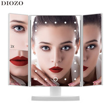 Miroir de maquillage pliable et réglable pour Table de bureau, miroir grossissant 1X/2X/3X, vanité 3, 22 pièces