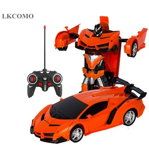 Car Toys RC Car Transformation Robots Remote control Sports Vehicle Model Robots Toys Cool Deformation Car Kids Christmas gifts
