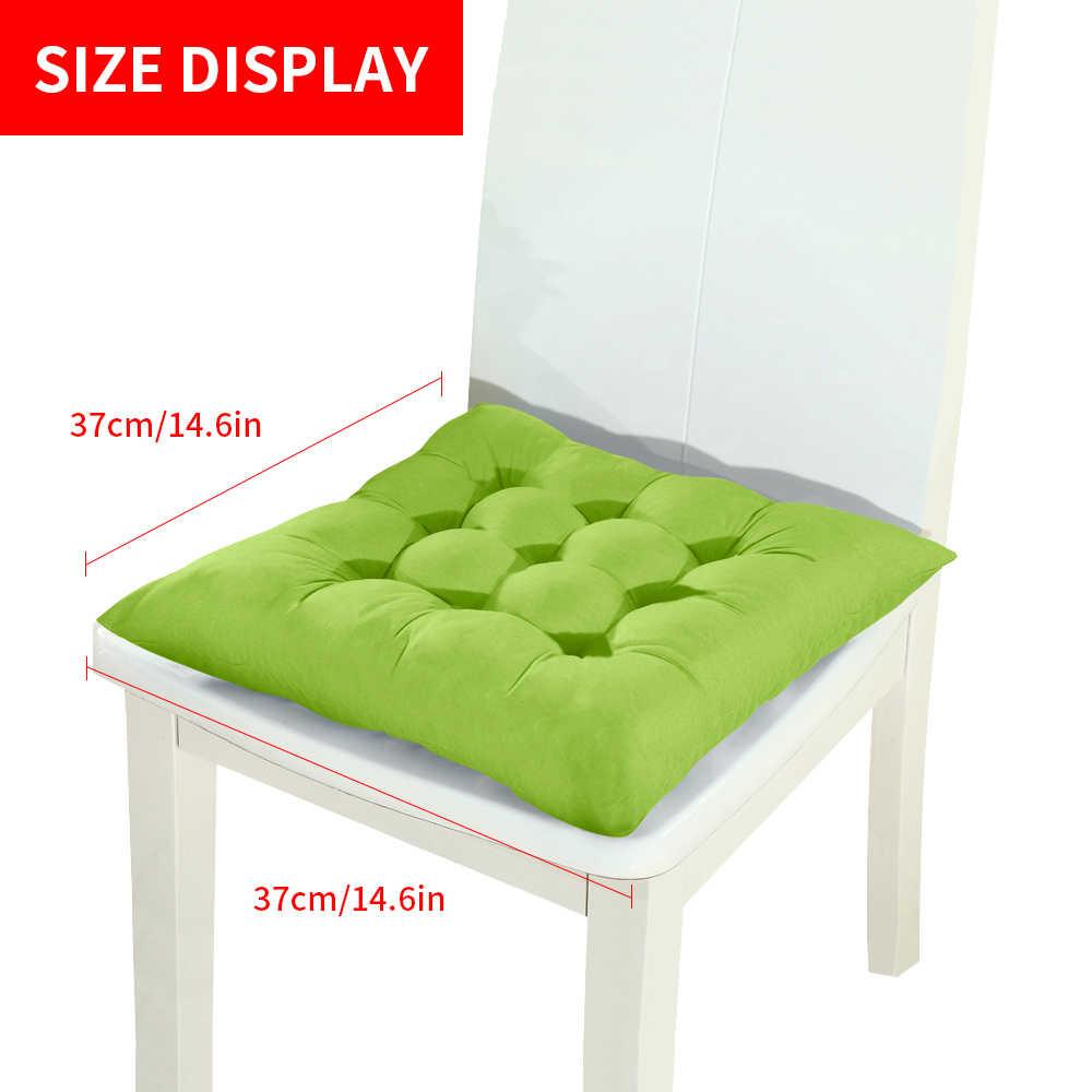 Nowy 1/2/4 sztuk domowe miejsce do siedzenia poduszka zima biuro krzesło barowe poduszki na tylnym siedzeniu Sofa poduszka poduszka do siedzenia na krzesło 37x37cm
