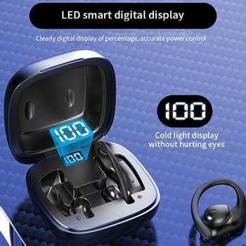 Bluetooth 5.0 Earphones Wireless Headphones Noise Canceling Headphone Handsfree Intelligent Power Di