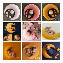 5-6Pcs Set Newborn Photography Props Accessories Baby Posing Pillow Crescent Pillow+Stars+Hat Studio Baby Photo Props Fotografi cheap Spandex CN(Origin) Four Seasons 0-6m 13-24m 25-36m 7-12m Unisex Side Sleeper Pro Pillow Babies Anti-Apnea Grade A Cartoon
