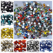 ss2,ss3,ss4,ss5 AAAAA Top Quality Crystal Non Hotfix Rhinestone Super Bright Glass Strass 3D Nail Art Decoration viborg 55cm 22 top quality super smooth
