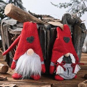 Рождественский Безликий гном Санта Рождественская елка подвесное украшение кукла украшение для дома кулон подарки украшения вечерние принадлежности|Кулоны и подвески|   | АлиЭкспресс