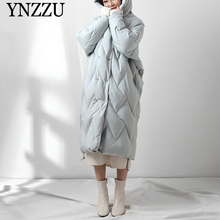 Autumn Winter Hooded Loose Women down coat White Long Warm Female down