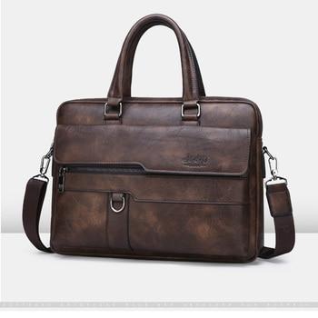 Designer de luxo couro do plutônio homem maleta bolsa de negócios dos homens 15.6 polegadas bolsa para portátil moda masculina maleta bolsa de ombro 2019 1
