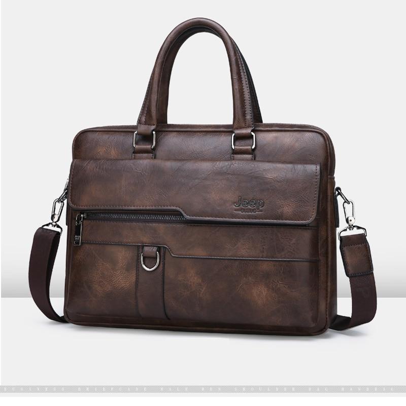 Luxury Designer PU Leather Man Briefcase Men's Business Handbag 15.6 Inches Laptop Bag Fashion Male Briefcase Shoulder Bag 2019